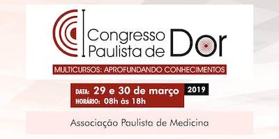 I CONGRESSO PAULISTA DE DOR