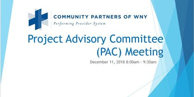 Quarterly Project Advisory Committee (PAC) meeting
