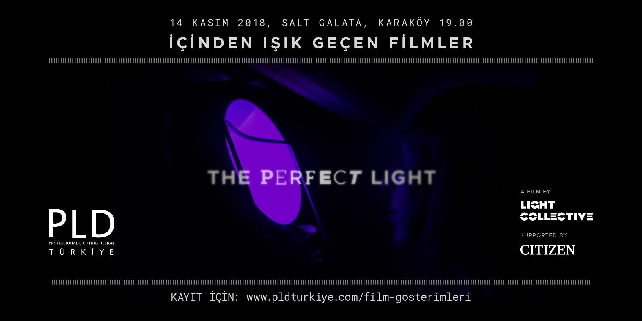 Film Gösterimi 01: Perfect Light @Salt Galata