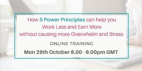 5 power principles for female entrepreneurs online training free