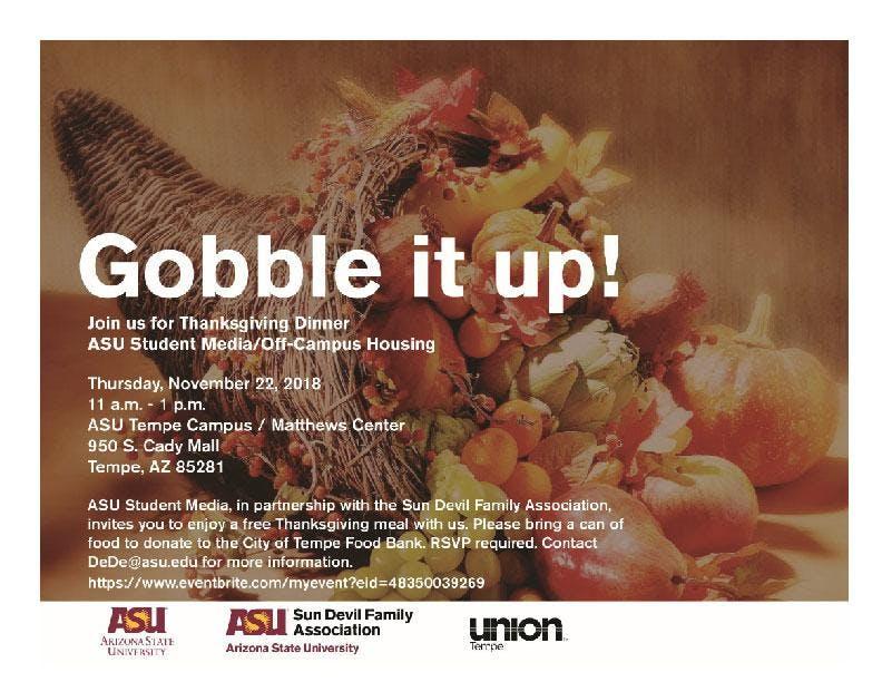 ASU Thanksgiving Dinner 2018