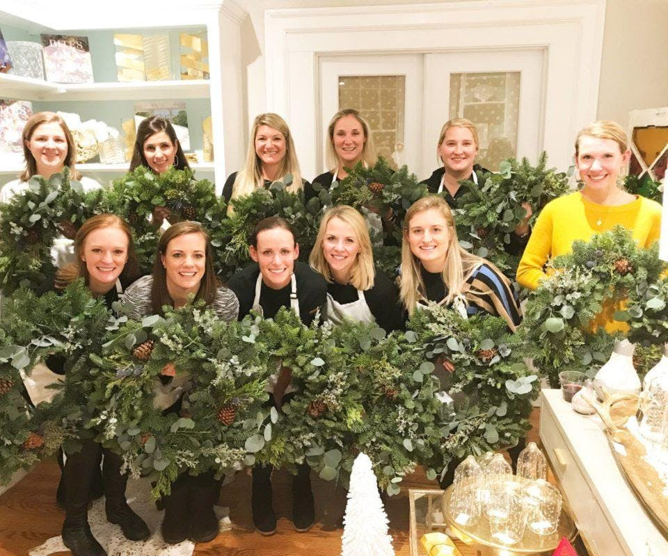 Winter Wear and Wreaths at Grey Boutique