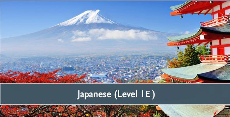 Japanese (Level 1E) - January 2019