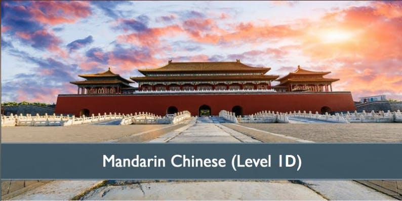 Mandarin Chinese (Level 1D) - January 2019