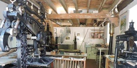 Open Studios  Lino, letterpress & etching two workshops. tickets