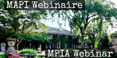 Glendon MPIA Webinar| MAPI Webinaire billets