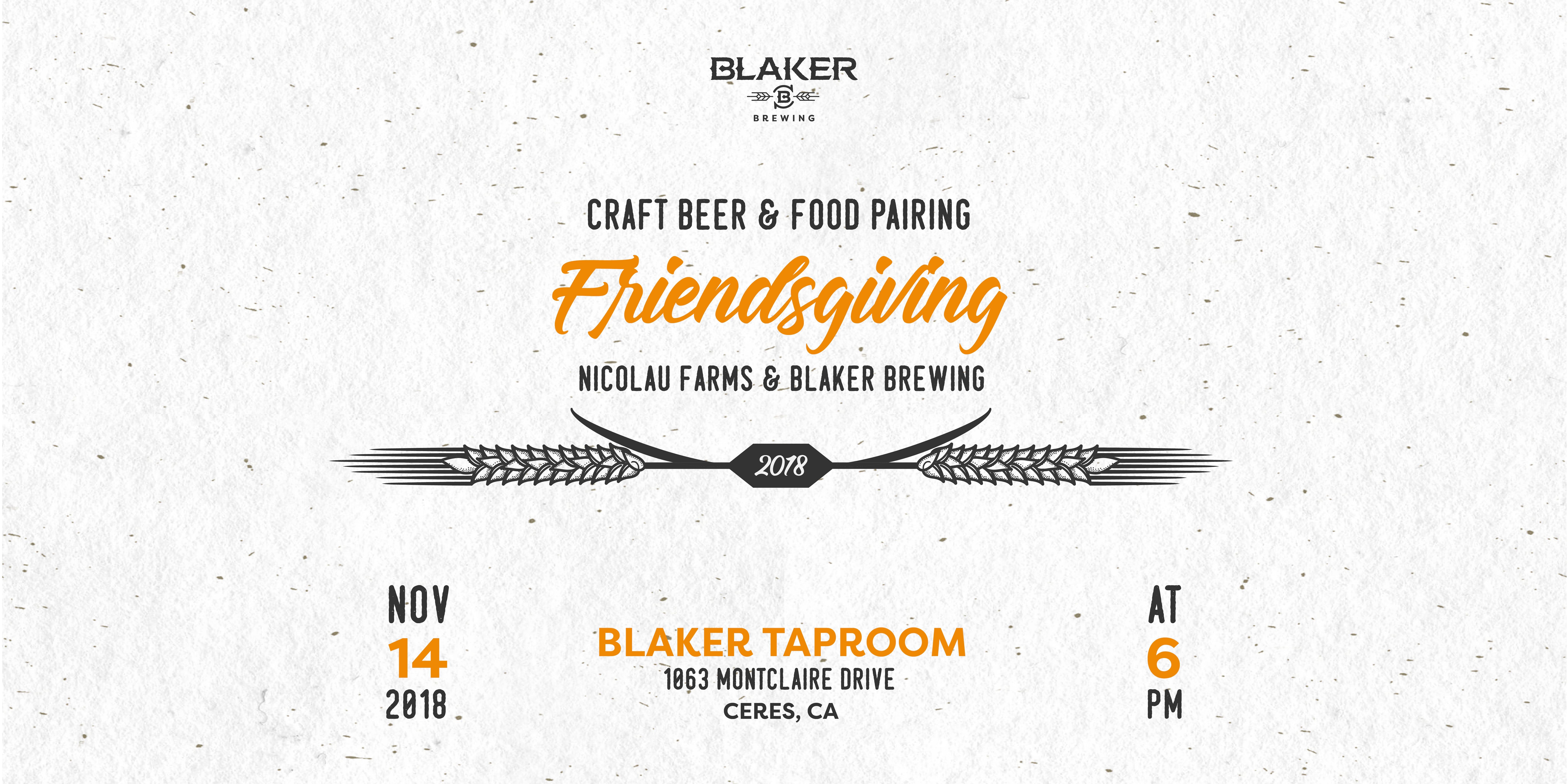 Friendsgiving: Craft Beer & Artisan Food Pair