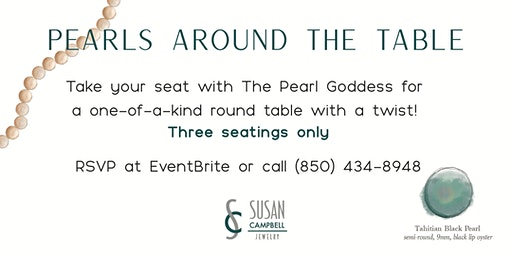Saturday - Pearls Around the Table - Take your Seat! 2019