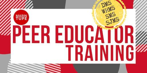 Peer Educator Training - Middle Schools