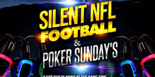 "LISTEN UP SQUAD & MAJOR LEAGUE PRESENTS ""Silent Football & Poker Sunday's"
