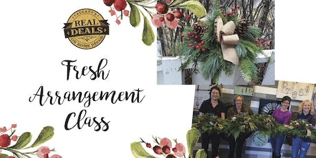 Fresh Holiday Arrangement Workshop tickets