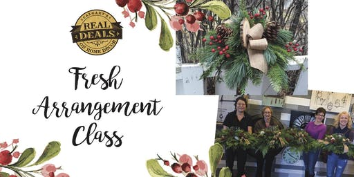 Fresh Holiday Arrangement Workshop