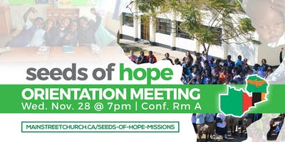 Seeds of Hope Mission Trip Orientation Meeting