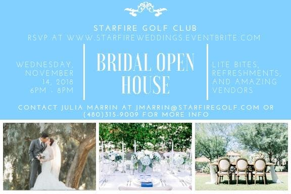 Starfire Golf Club's Fall 2018 Bridal Open House