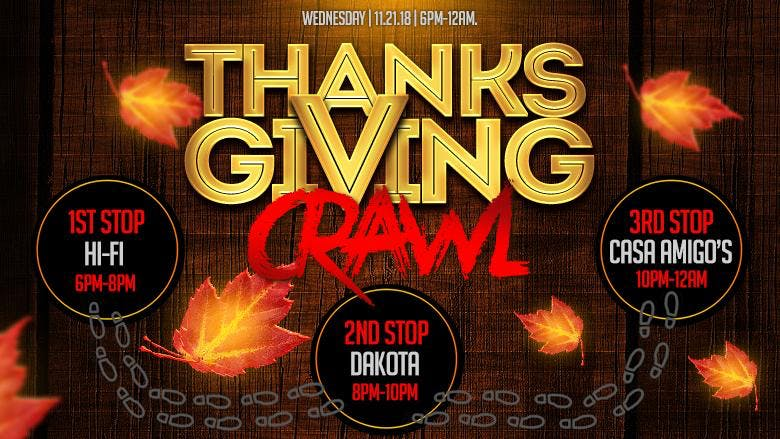 Thanksgiving-Eve Bar Crawl