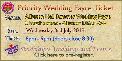 Alfreton Hall July Evening wedding fayre.