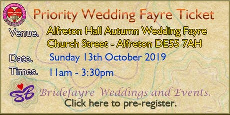 Alfreton Hall Autumn Wedding Fayre tickets