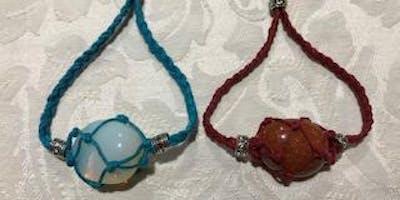 Make your own macrame crystal bracelet!