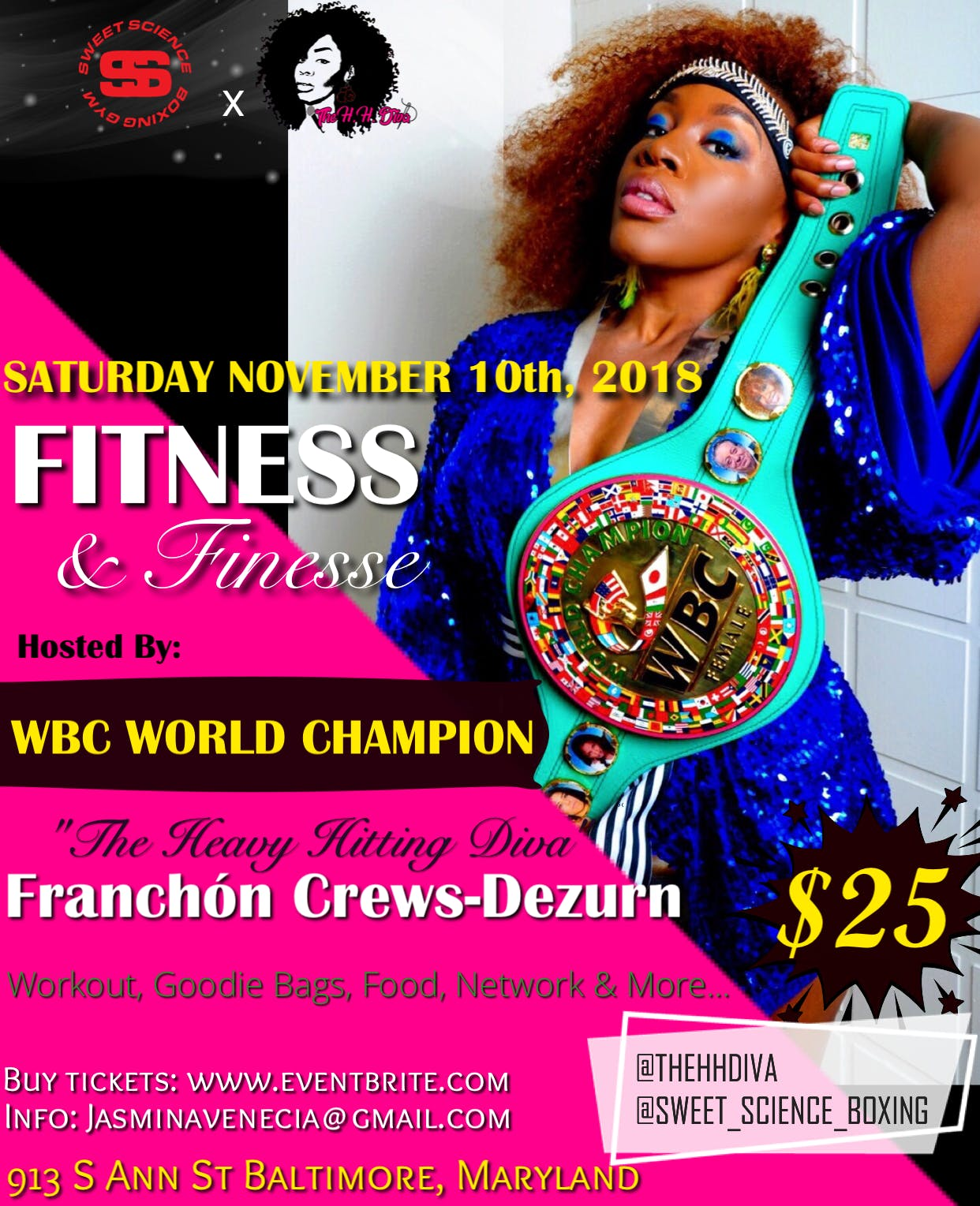 The H  H  Diva x Sweet Science Boxing Gym Fitness & Finesse
