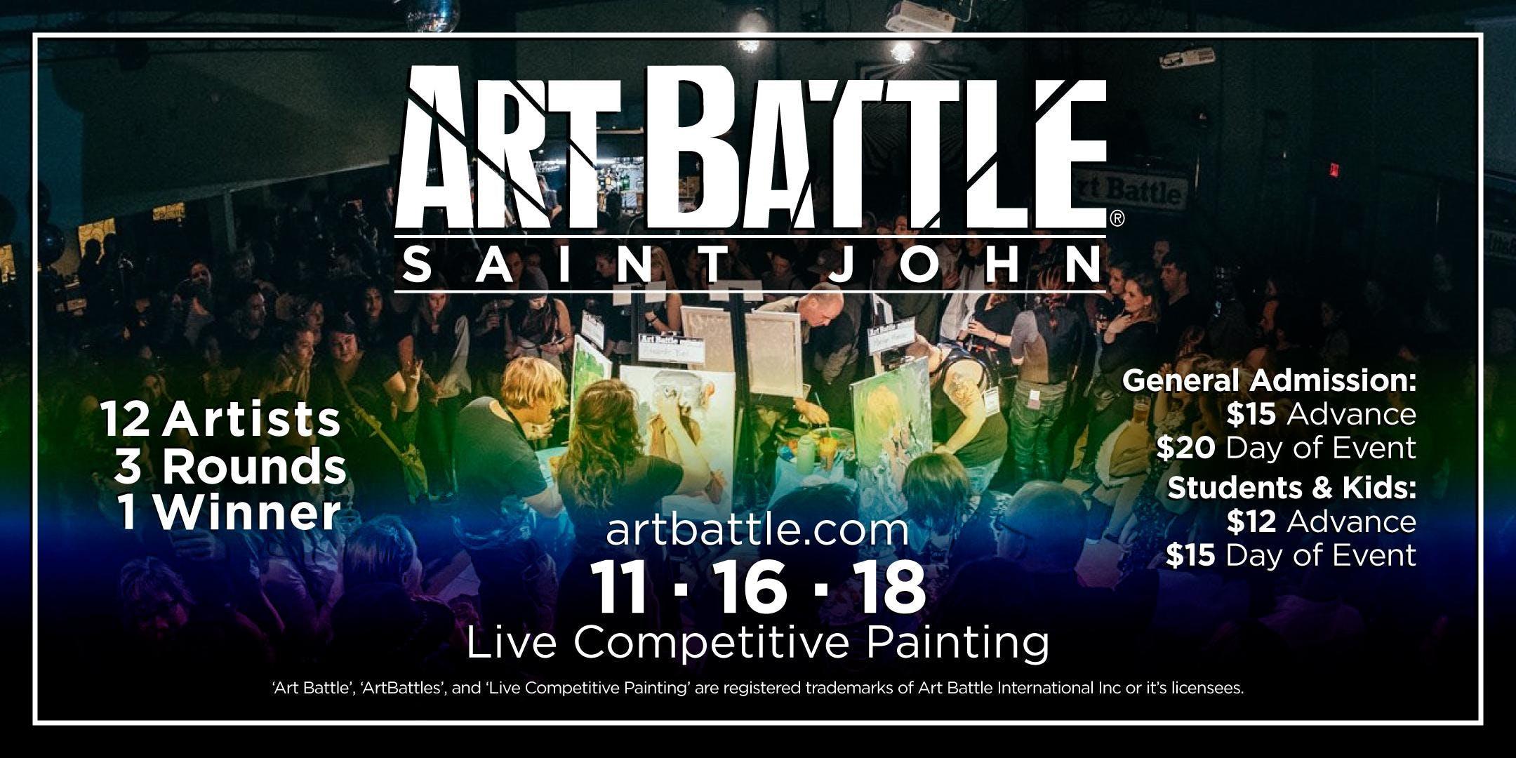 Art Battle Saint John - November 16, 2018