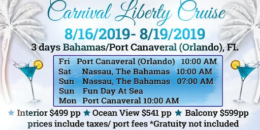 Carnival Liberty August 2019 Cruise