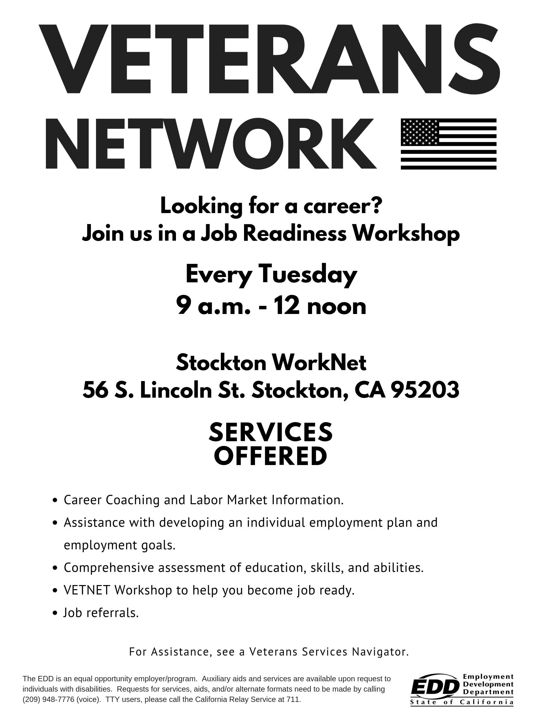 Veterans Employment Workshop Tickets, Multiple Dates