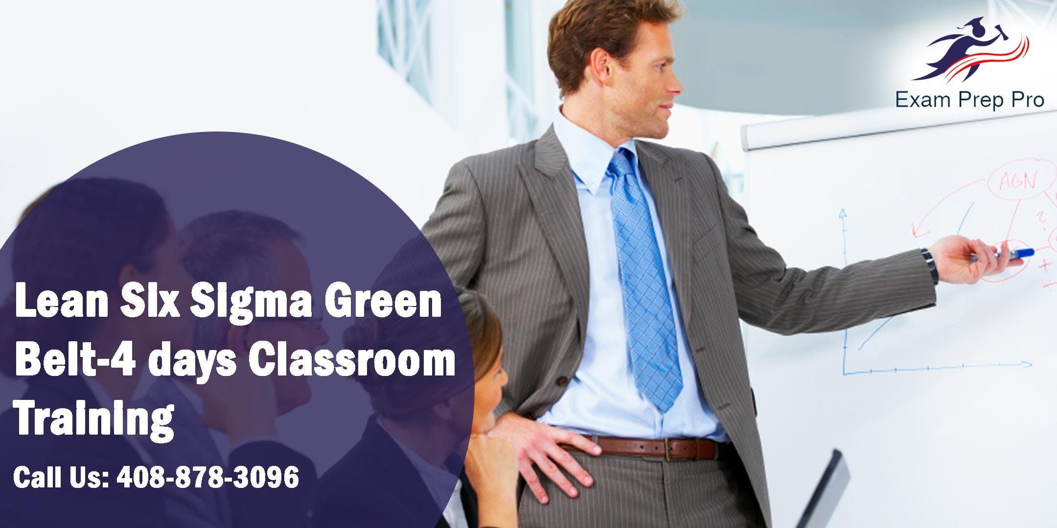 Lean Six Sigma Green Beltlssgb 4 Days Classroom Training Boston
