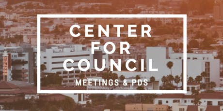 Center For Council - Trainer Meeting & PD    Oct 26, 2019 tickets