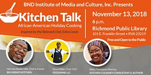 Kitchen Talk: African-American Holiday Cooking