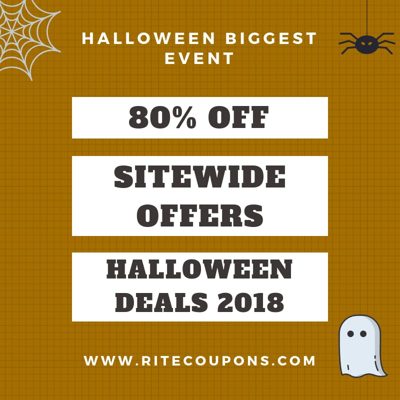 Mega Halloween sale event with Halloween coupons 2018 at Ritecoupons