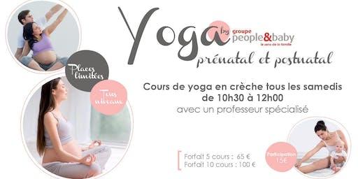 Cours de yoga en crèche - La Madeleine