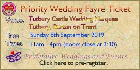 Tutbury Castle Marquee Regal Summer Wedding Fayre tickets