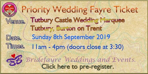 Tutbury Castle Marquee Regal Summer Wedding Fayre