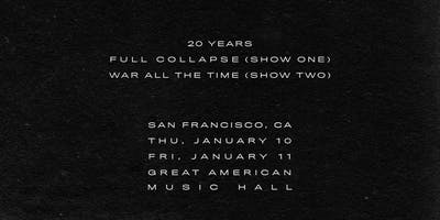 Thursday 20 Years: Full Collapse @ GAMH