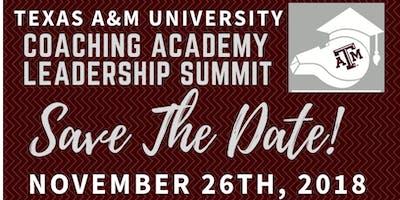 Texas A&M Coaching Academy Leadership Summit 2018