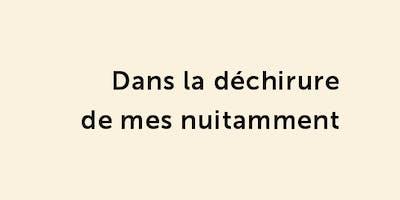 Présentation de Dans la déchirure de mes nuitamment - Jean-Marc Collet