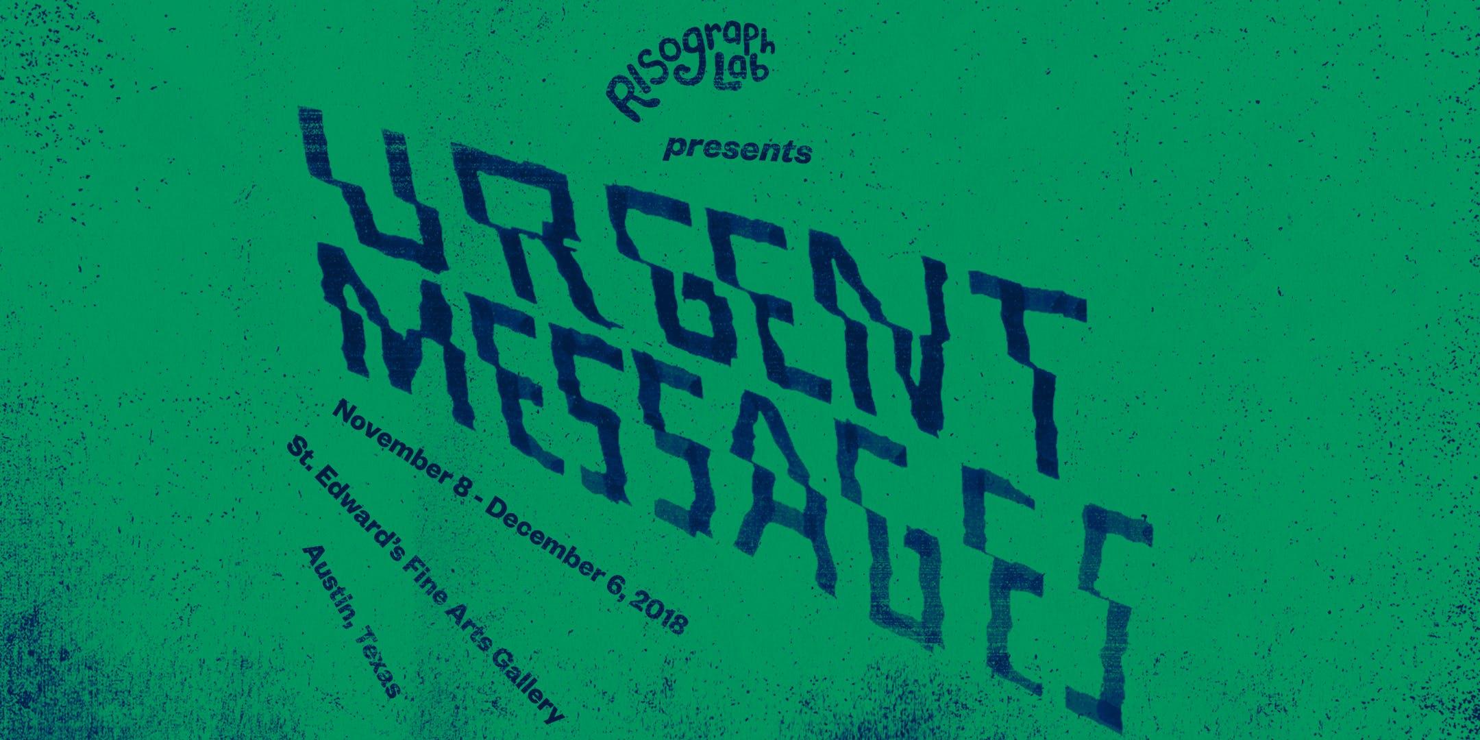 Risograph Poster Workshop: URGENT MESSAGES!