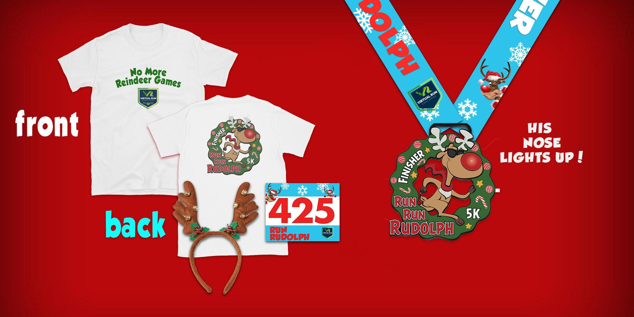Run Run Rudolph Virtual 5k Run Walk - Glendale