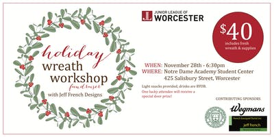 Holiday Wreath Workshop Fundraiser with Jeff French Designs