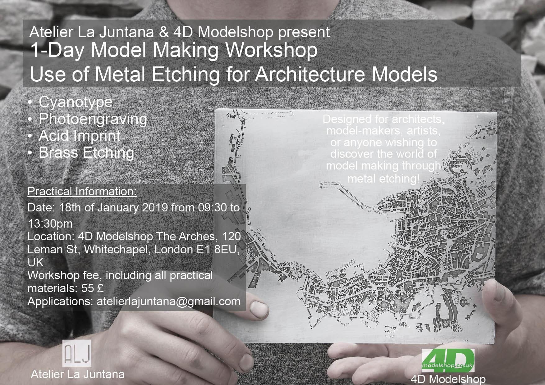 Modelmaking workshop - Use of Metal Etching f