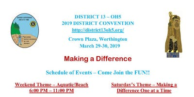 2019 Ohio Lions District 13-OH5 Convention