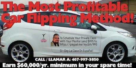 The Most Profitable Car Flipping Method: Earn $60k/yr Minimum! tickets