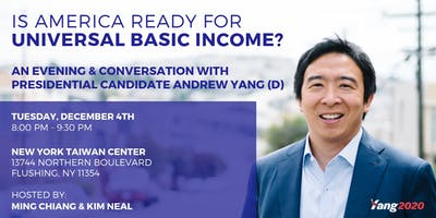 An Evening with 2020 Presidential Candidate Andrew Yang - NY Taiwan Center