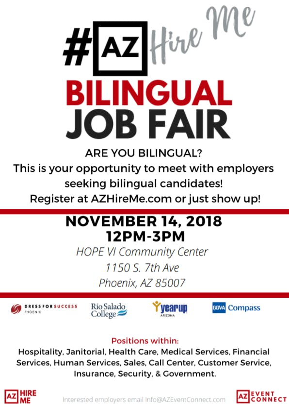azhireme bilingual job fair variety of employment opportunities