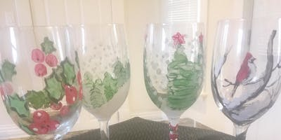 Wine Glass Painting Party at Beard Free Brewing