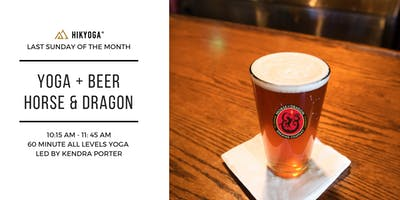 Yoga+Beer at Horse & Dragon Brewing with Kendra