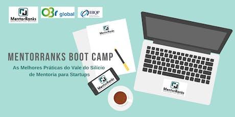MentorRanks Boot Camp - Rio de Janeiro bilhetes