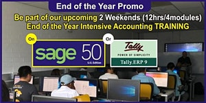 2 Weekends of Sage50 or TallyERP Accounting Package...