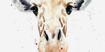 Gorgeous Giraffe Watercolour!