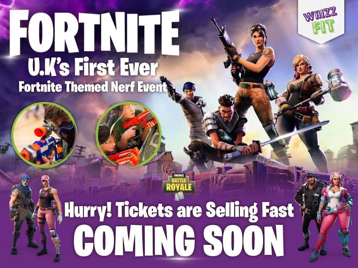 Fortnite themed Nerf battle